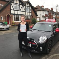 Well done Nicole on a great pass!