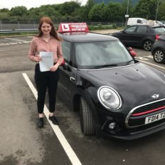 Lizzie has passed her test first time!
