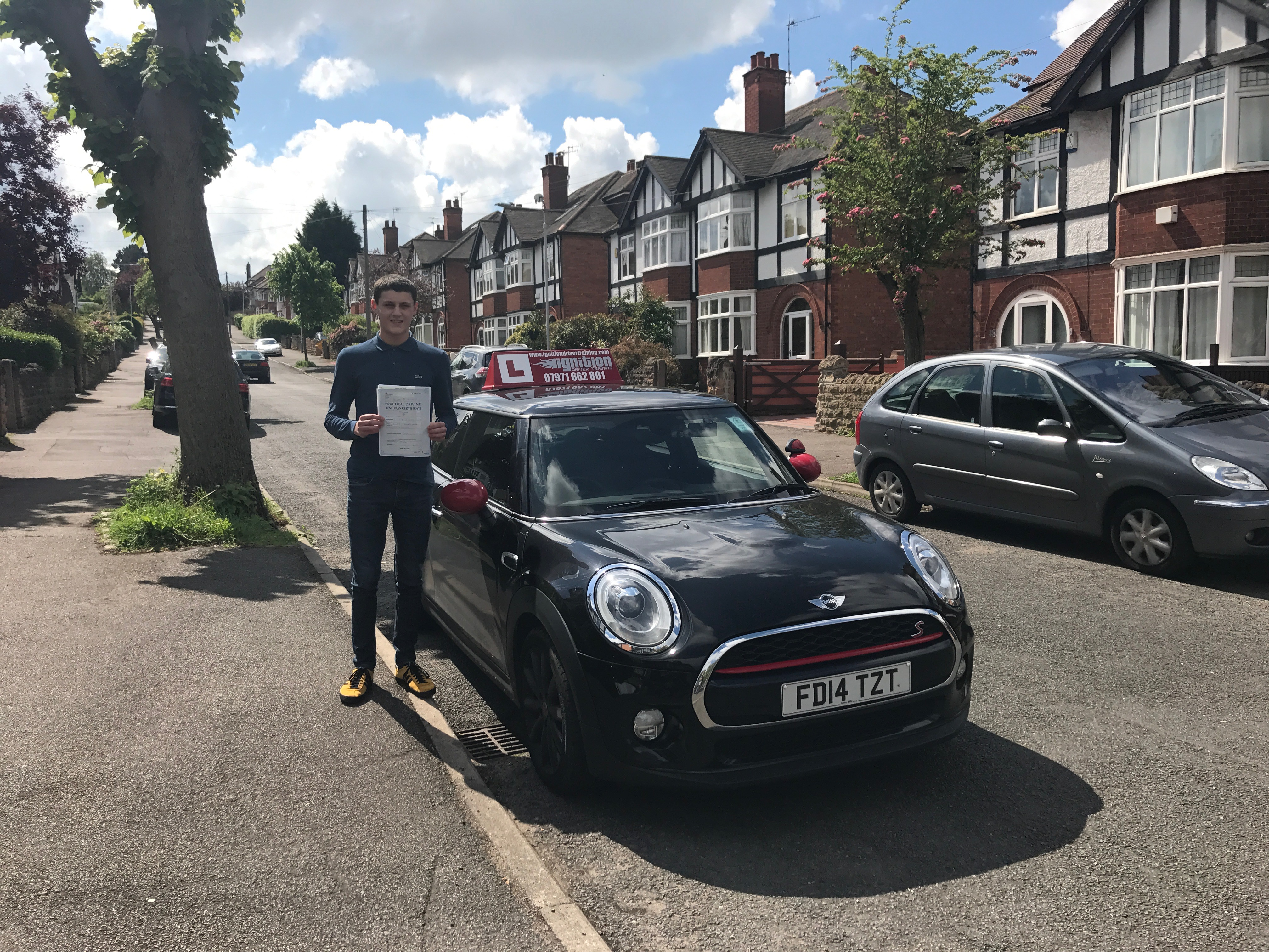 Matt has passed his test first time!