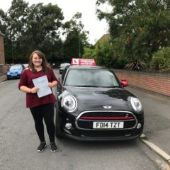 Heather has passed first time!