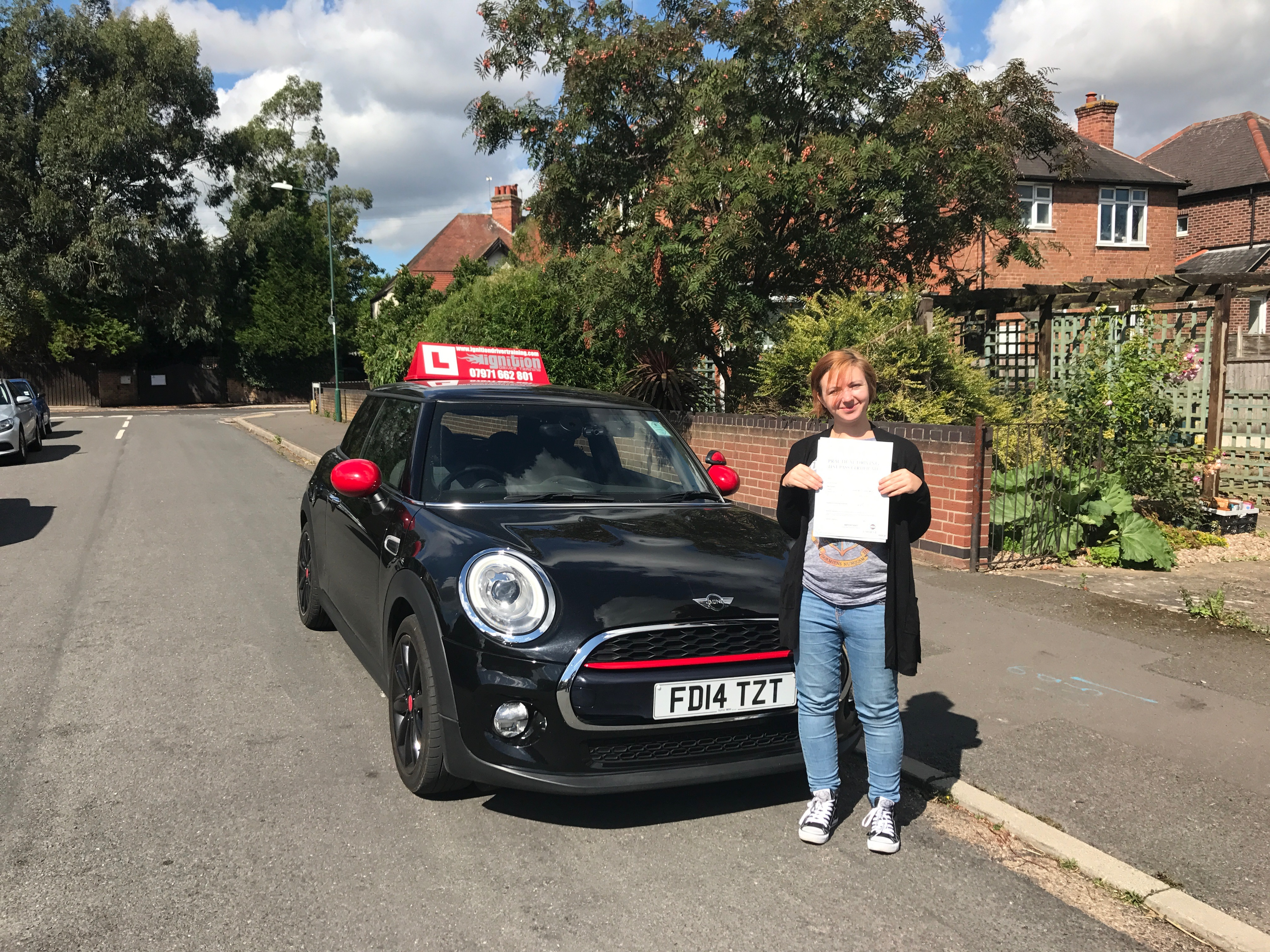Jodie passed her test first time!