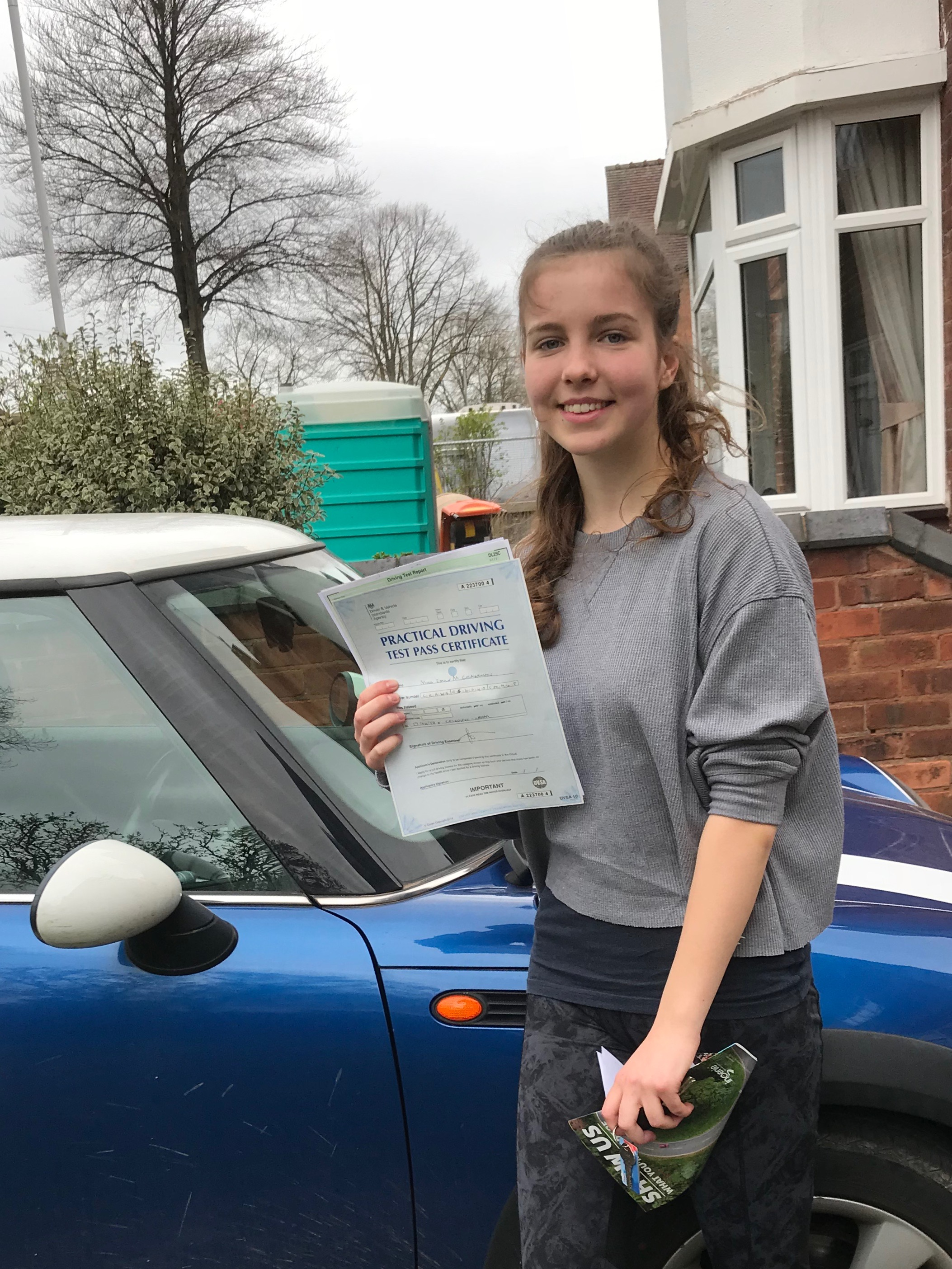 Congratulations to Emily for passing her test!