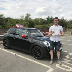 Lucas has passed first time!