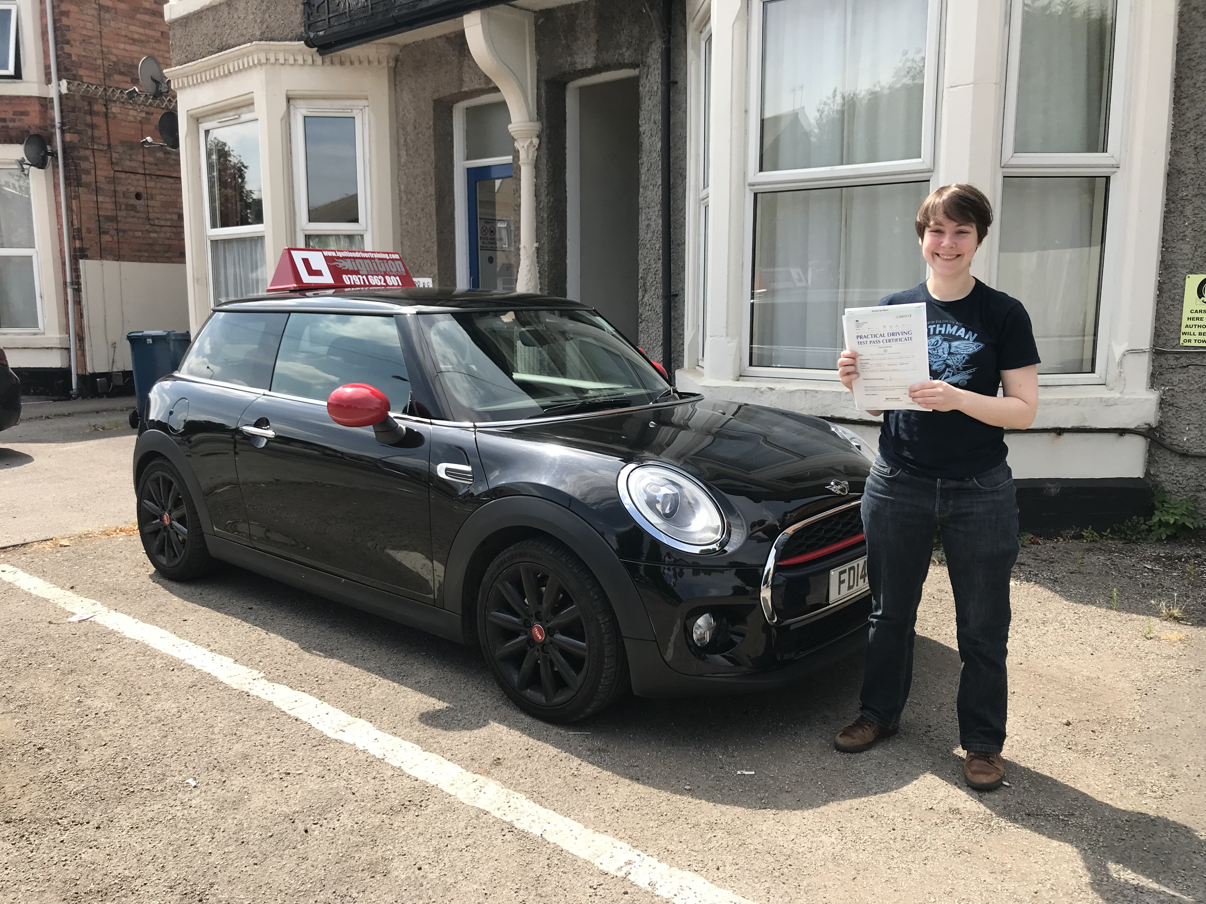 Maaike has passed first time!