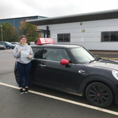 Courtney passed first time!