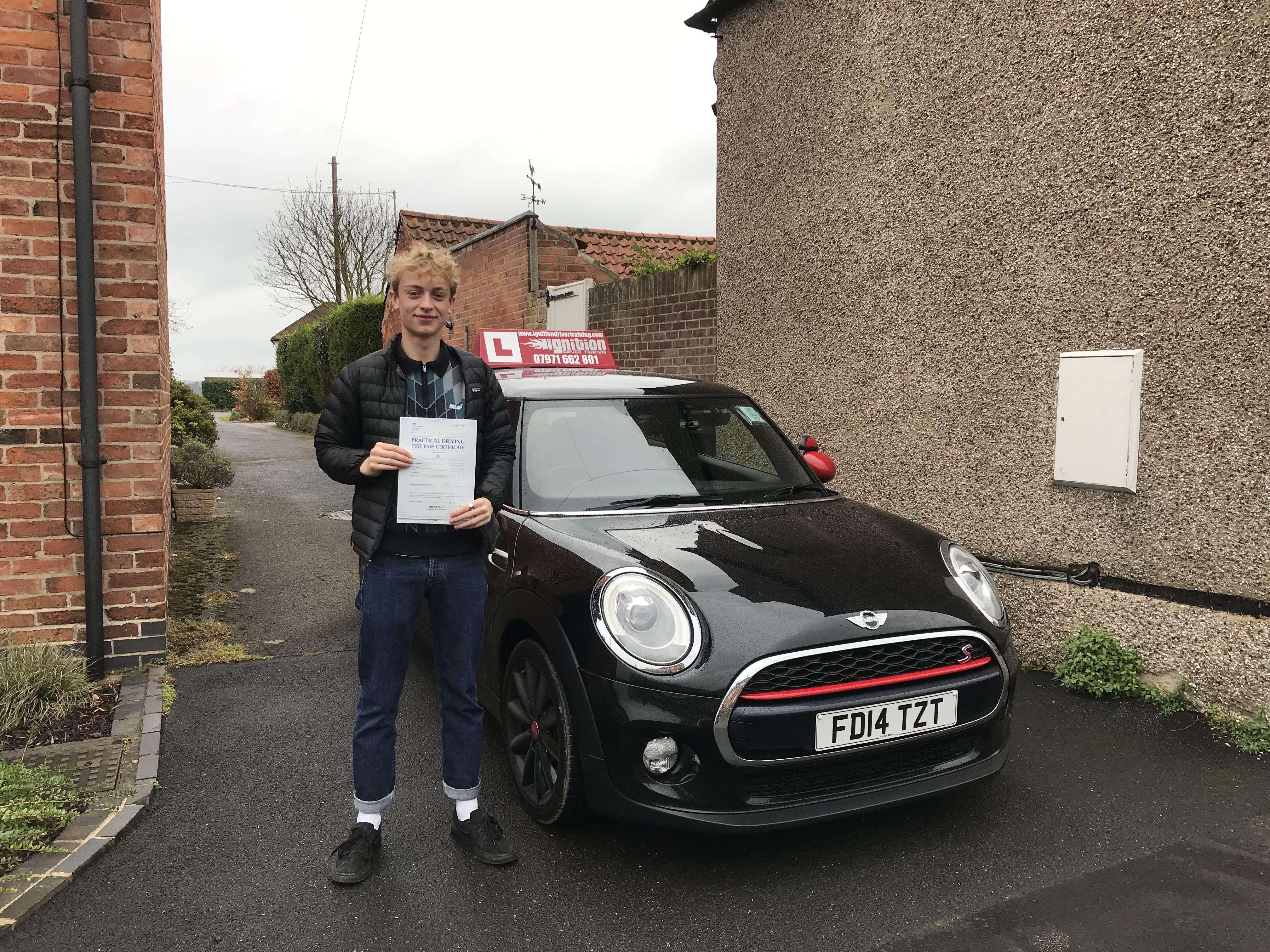 Adam has passed first time!
