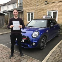 Adam passed first time!