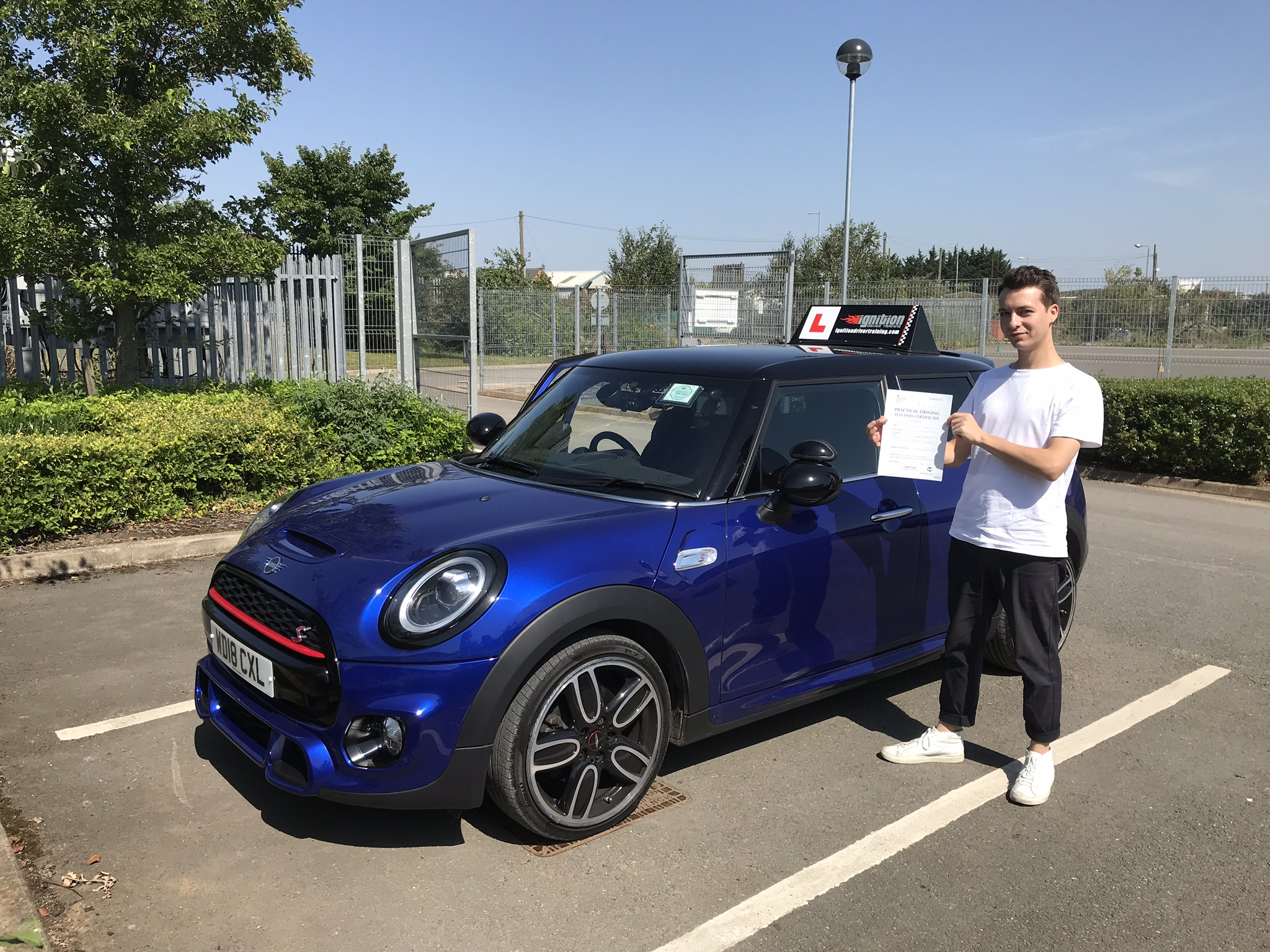 James has passed first time!