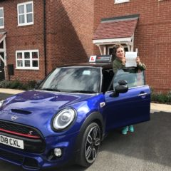 Sophie passed first time!