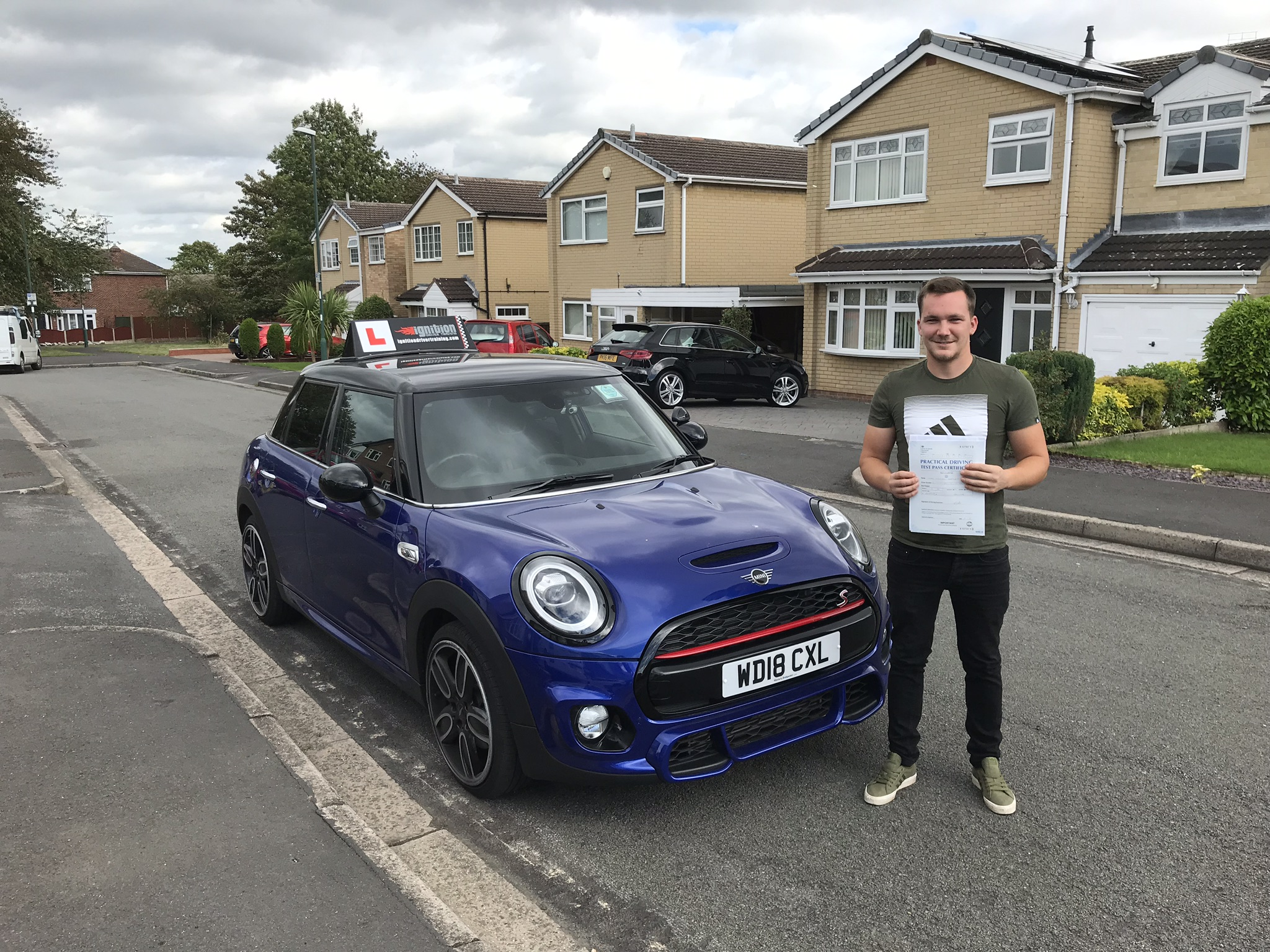 Gary passed first time!