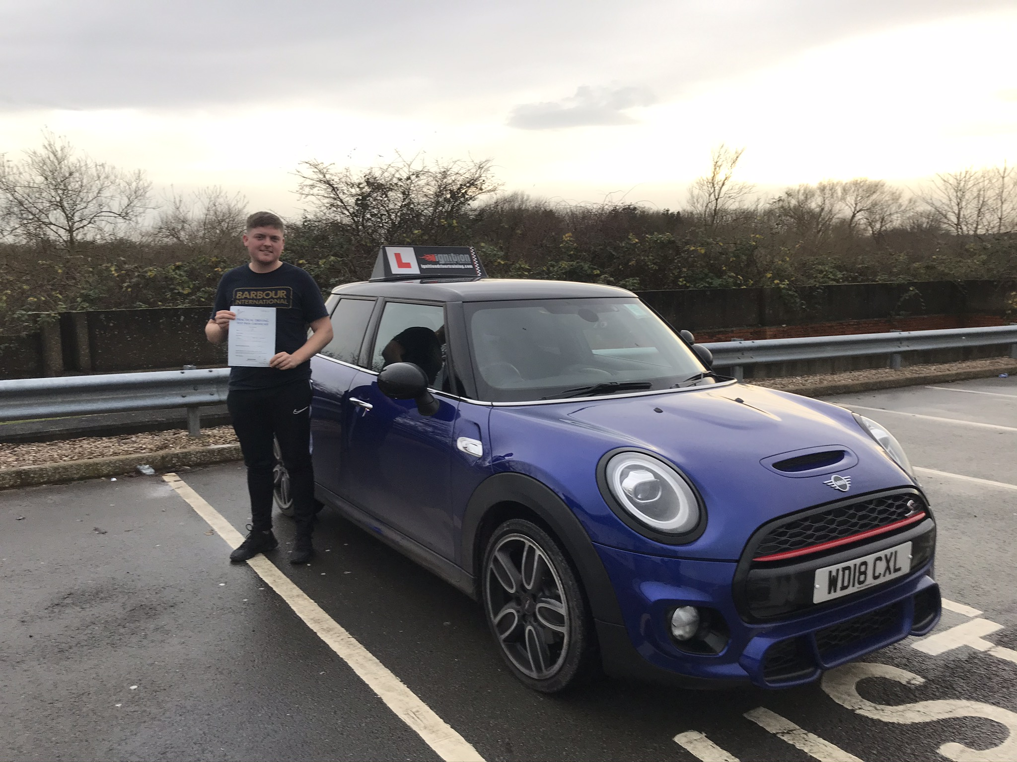 Dan passed first time!