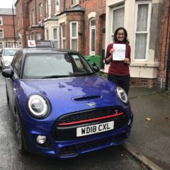 Charutha passed her test!