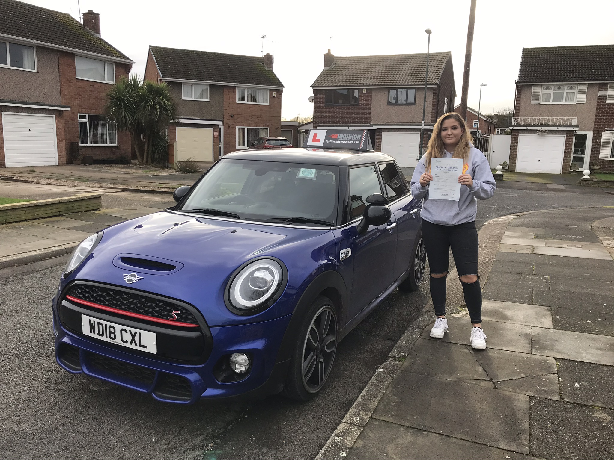 Scarlet passed her driving test!