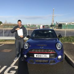 Rafael passed first time