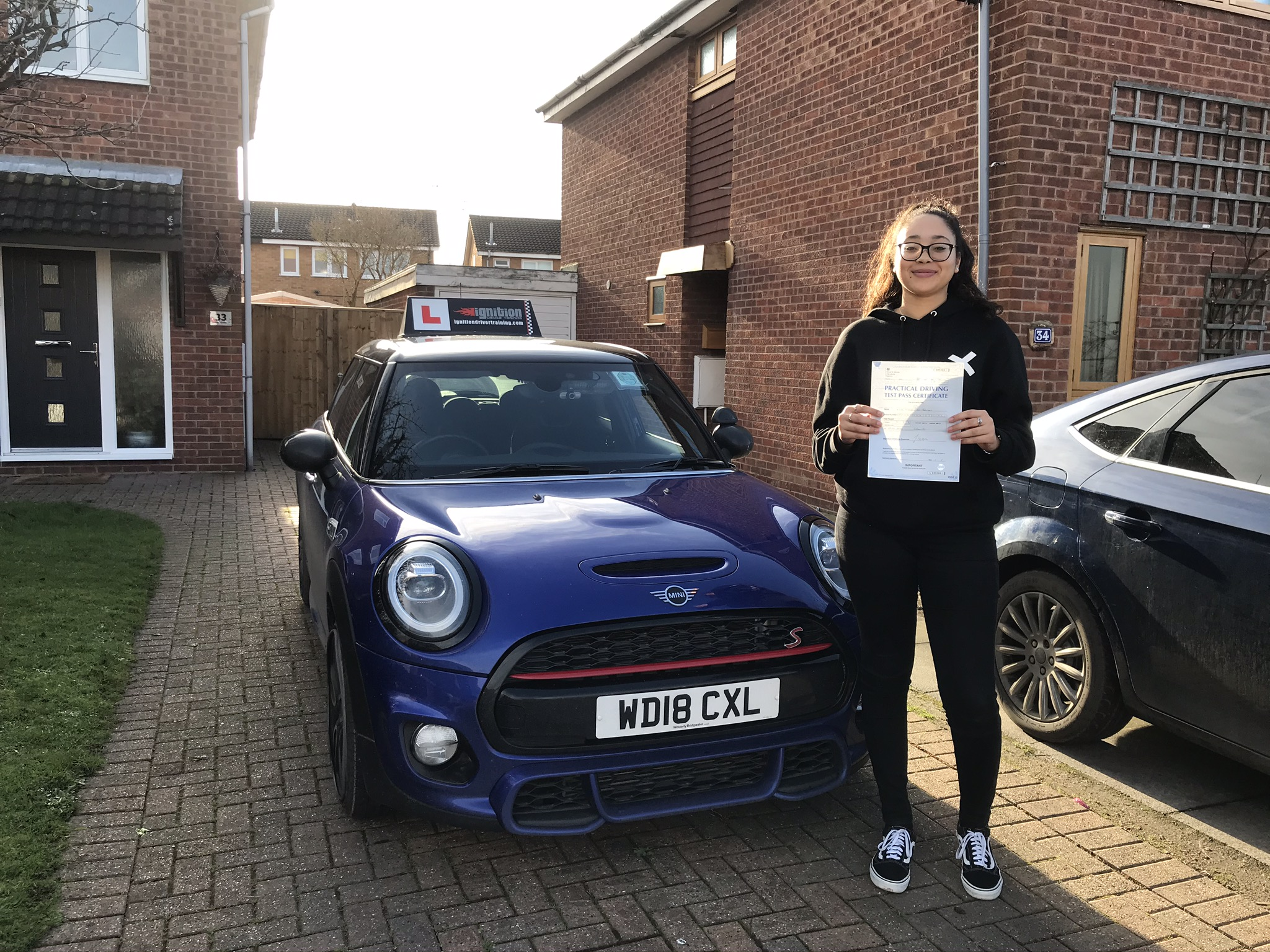 Abigail passed first time!
