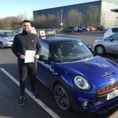 Kacper passed first time!