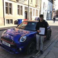 Adam passed first time
