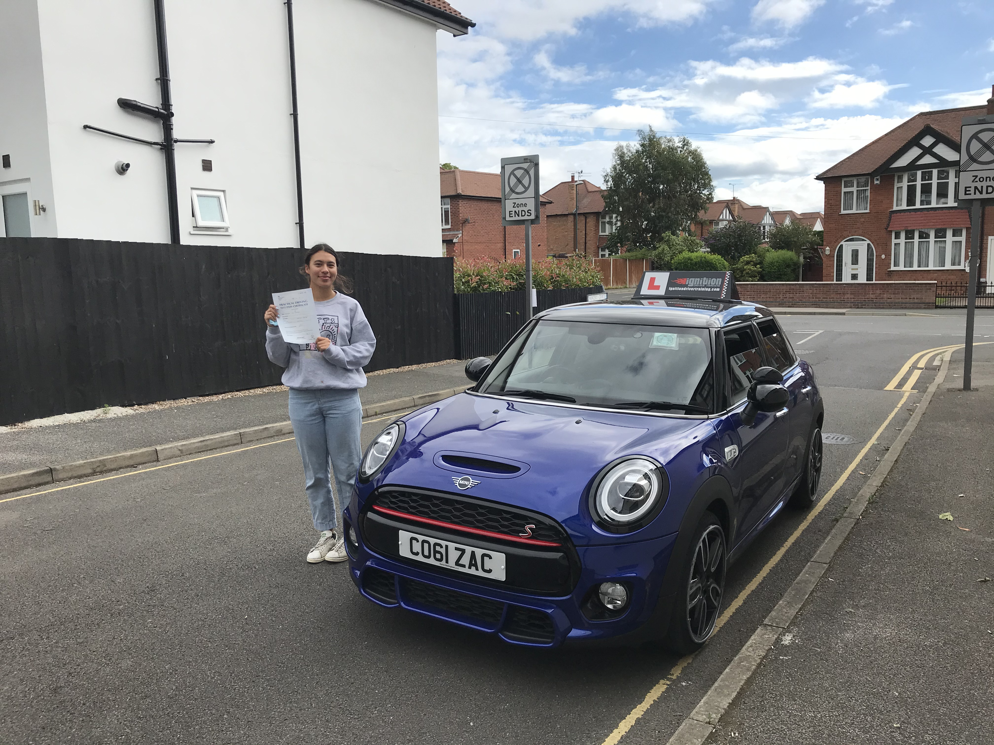 Frankie passed first time!