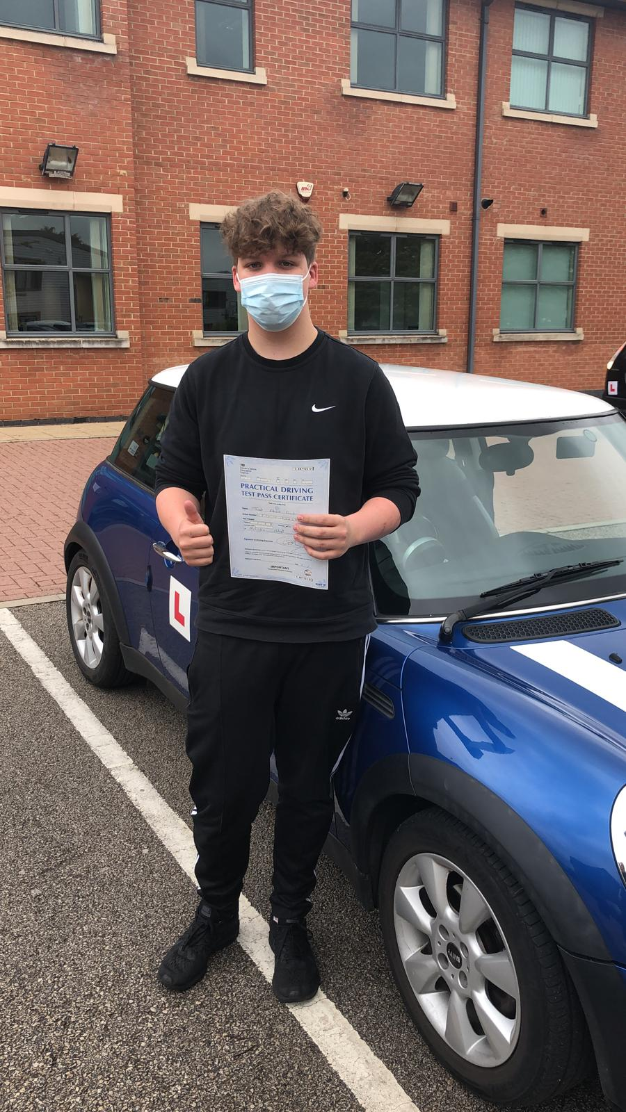 Joe passed first time!