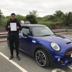 David passed first time!
