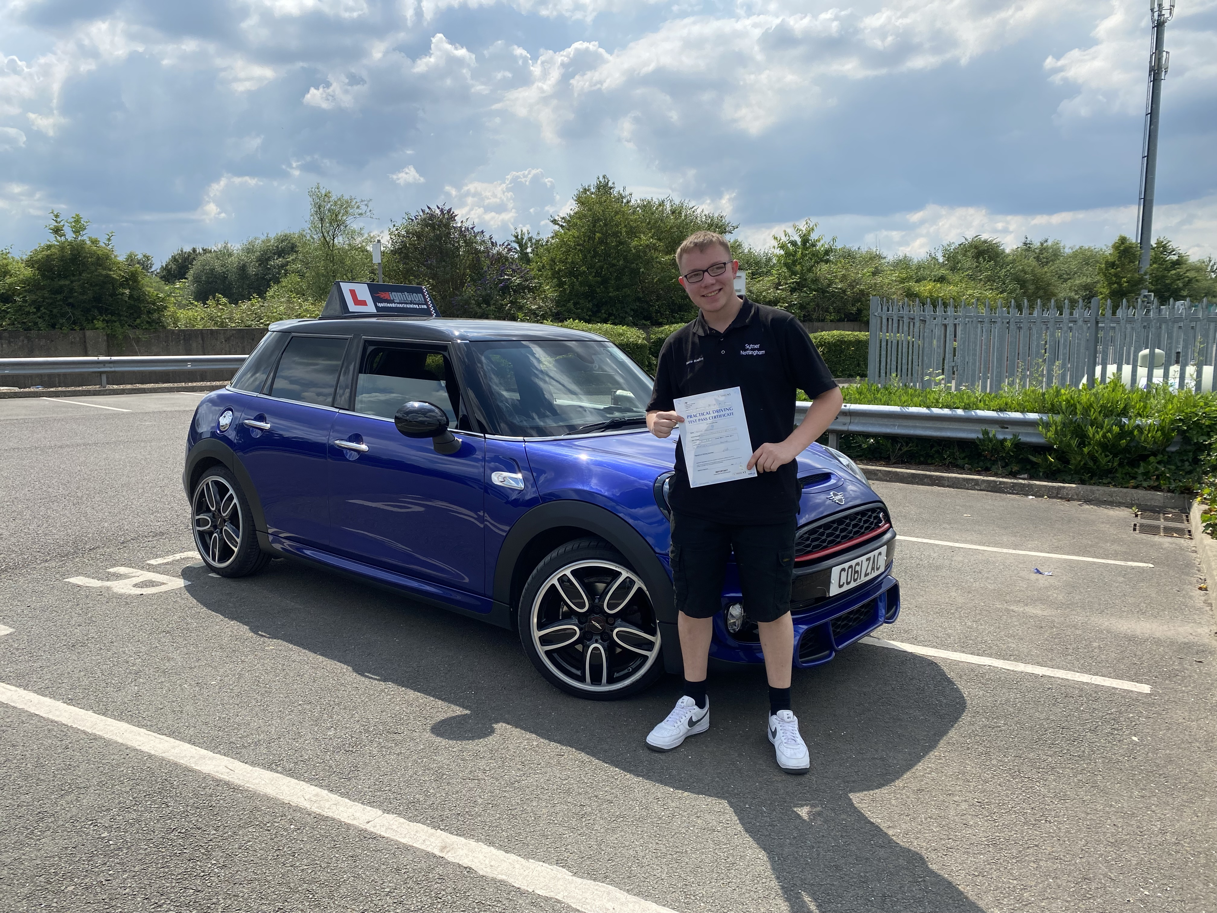 Reece passed his test!