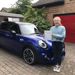 Corenna passed first time!