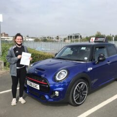 Izzy passed first time!